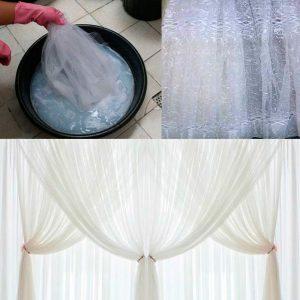как стирать тюль руками