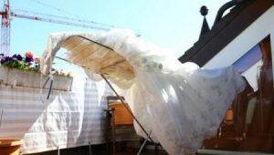сушка свадебного платья