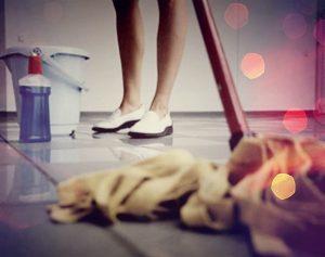 как мыть кафельный пол