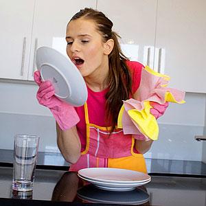 вытирать ли посуду
