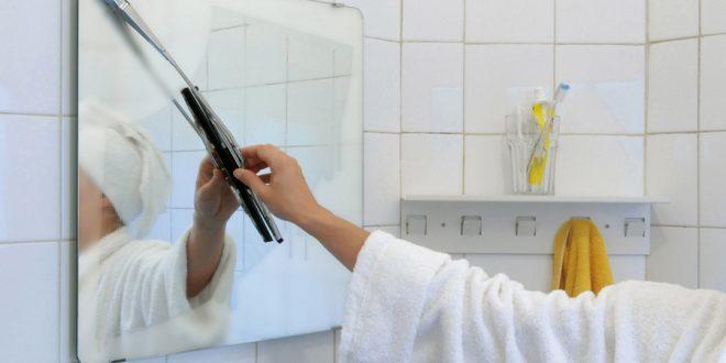 как мыть зеркало без разводов