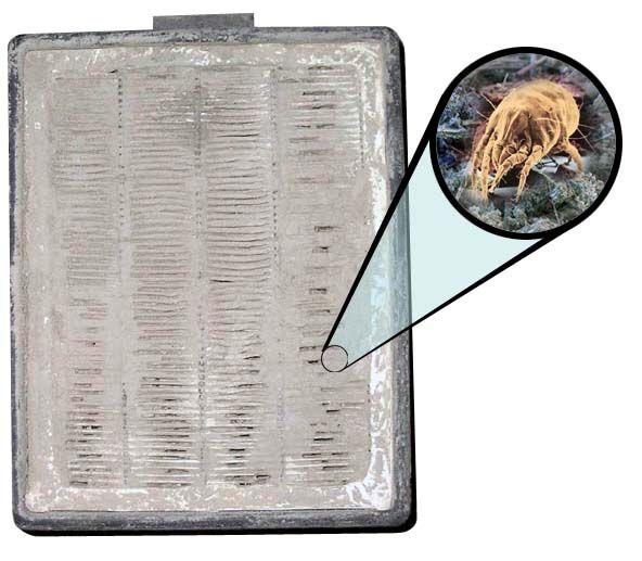 загрязненный нера фильтр