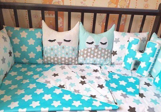стирка брортиков новорожденному в кровать