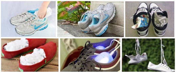 способы высушить кроссовки