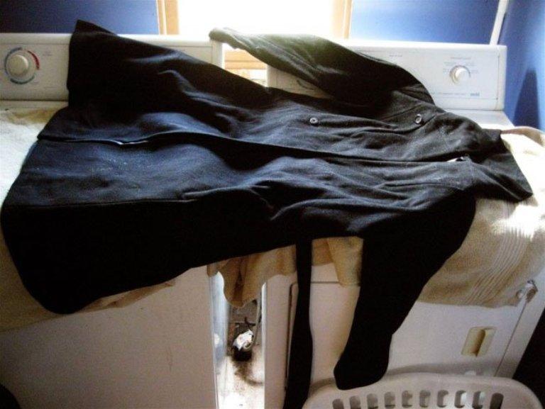 стирка пальто дома