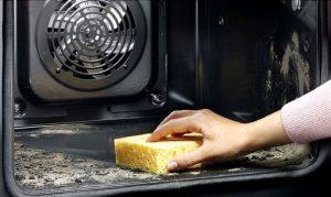 отмыть духовку от жира