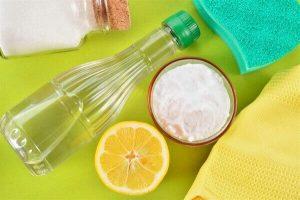 Влажная чистка содой и уксусом