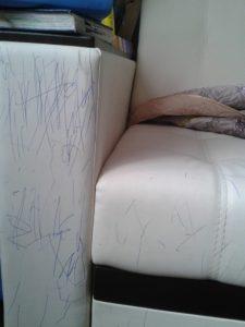 Как вывести ручку с дивана из экокожи