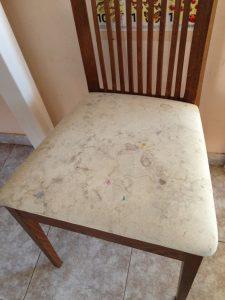 Как почистить стулья с тканевой обивкой
