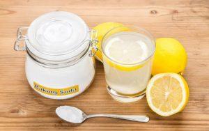 Сода с лимоном для удаления плесени