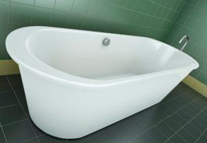 Скол на акриловой ванне
