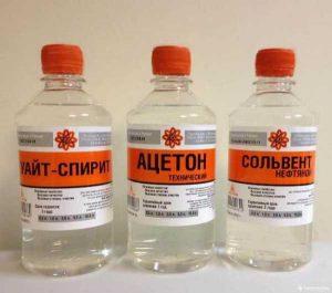 Уайт-спирит, скипидар или ацетон