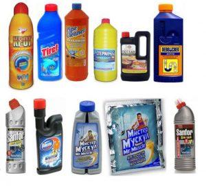 Химические средства от засоров