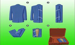 Как сложить аккуратно пиджак