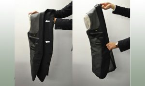 Сложить пиджак в чемодан