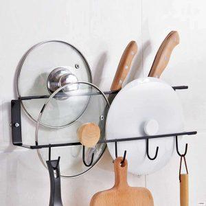 Хранение крышек от кастрюль на кухне