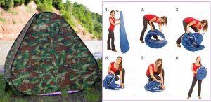 Как сложить палатку-автомат восьмеркой